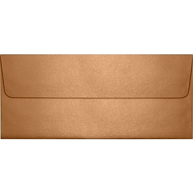 LUX Peel & Press #10 Square Flap Envelopes (4 1/8 x 9 1/2) 500/Box, Copper Metallic (5360-11-500)