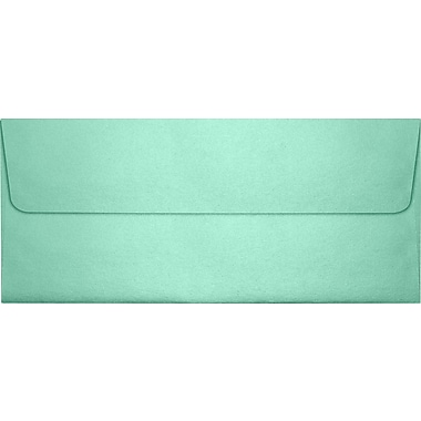 LUX #10 Square Flap Envelopes (4 1/8 x 9 1/2), Lagoon Metallic, 50/Box (5360-27-50)