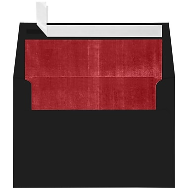 LUX A4 Foil Lined Invitation Envelopes (4 1/4 x 6 1/4), Black w/Red LUX Lining, 50/Box (FLBK4872-01-50)