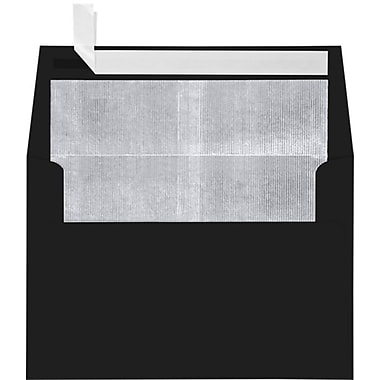 LUX A4 Foil Lined Invitation Envelopes (4 1/4 x 6 1/4), Black w/Silver LUX Lining, 50/Box (FLBK4872-03-50)
