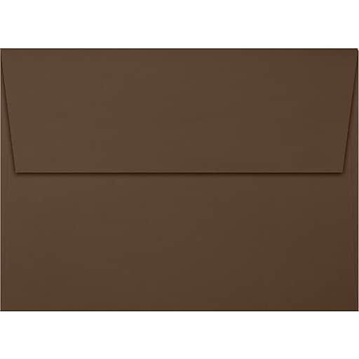 LUX A7 Invitation Envelopes (5 1/4 x 7 1/4) 50/Box, Chocolate (EX4880-17-50)