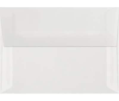 LUX A7 Invitation Envelopes (5 1/4 x 7 1/4) 50/Box, Clear Translucent (4880-00-50)