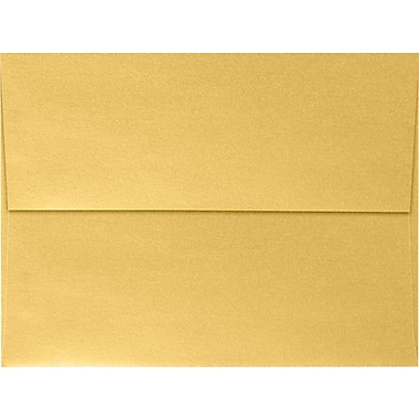 LUX A7 Invitation Envelopes (5 1/4 x 7 1/4) 50/Box, Gold Metallic (5380-07-50)