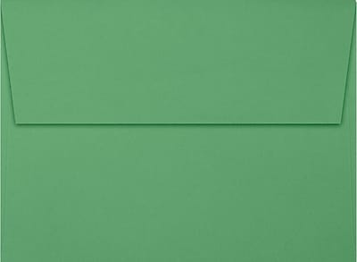LUX A7 Invitation Envelopes (5 1/4 x 7 1/4) 50/Box, Holiday Green (FE4280-12-50)