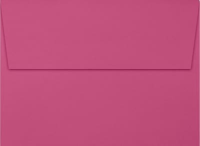 LUX A7 Invitation Envelopes (5 1/4 x 7 1/4) 50/Box, Magenta (EX4880-10-50)