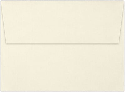 LUX A7 Invitation Envelopes (5 1/4 x 7 1/4) 50/Box, Natural Linen (4880-NLI-50)