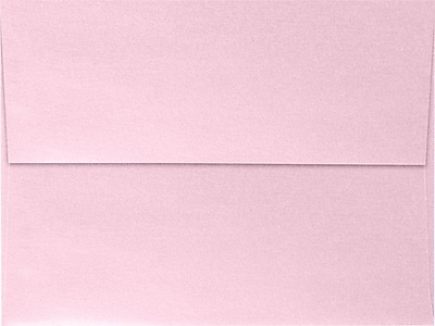 LUX A7 Invitation Envelopes (5 1/4 x 7 1/4) 50/Box, Rose Quartz Metallic (5380-04-50)