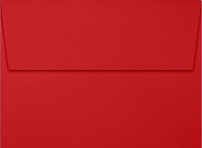 LUX A7 Invitation Envelopes (5 1/4 x 7 1/4) 50/Box, Ruby Red (EX4880-18-50)