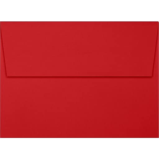lux a7 invitation envelopes 5 1 4 x 7 1 4 50 box ruby red ex4880