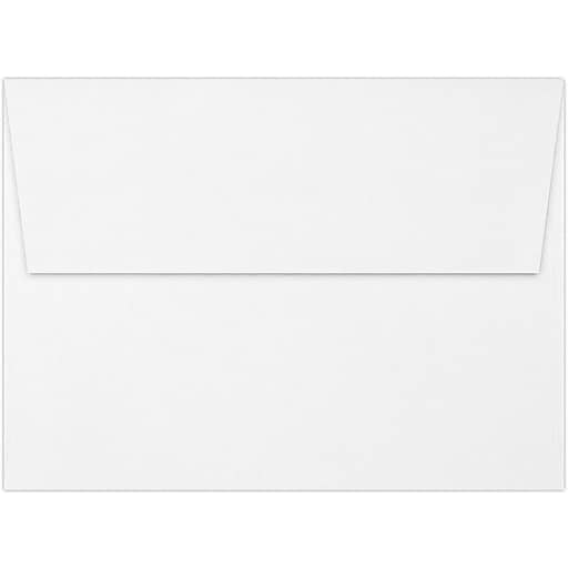 LUX A7 Invitation Envelopes (5 1/4 x 7 1/4) 50/Box, White - 100% Recycled (4880-WPC-50)