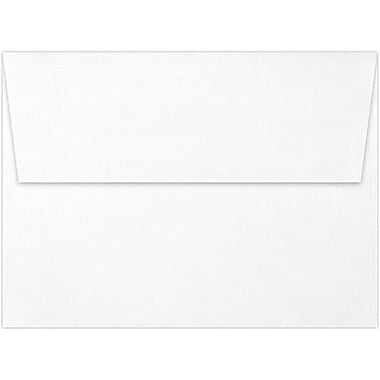 LUX A7 Invitation Envelopes (5 1/4 x 7 1/4) 50/Box, White Linen (4880-WLI-50)
