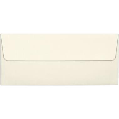 LUX Peel & Press #10 Square Flap Envelopes (4 1/8 x 9 1/2), Natural Linen, 250/Box (4860-NLI-250)