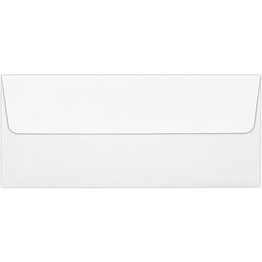 LUX Peel & Press #10 Square Flap Envelopes (4 1/8 x 9 1/2) 100% Cotton 250/Box, Bright White (4860-SW-250)