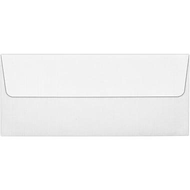 LUX Peel & Press #10 Square Flap Envelopes (4 1/8 x 9 1/2), White Linen, 250/Box (4860-WLI-250)