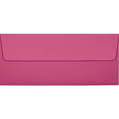 LUX Peel & Press #10 Square Flap Envelopes (4 1/8 x 9 1/2) 500/Box, Magenta (EX4860-10-500)