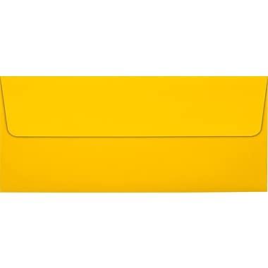 LUX Peel & Press #10 Square Flap Envelopes (4 1/8 x 9 1/2), Sunflower Yellow, 500/Box (EX4860-12-500)