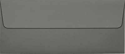 "LUX® 80lbs. 4 1/8"" x 9 1/2"" #10 Square Flap Envelopes, Smoke Gray, 250/BX"