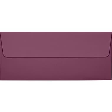 LUX Peel & Press #10 Square Flap Invitation Envelopes (4 1/8 x 9 1/2) 500/Box, Vintage Plum (LUX-4860-104500)