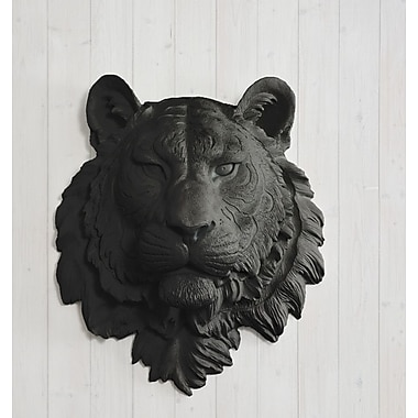 Wall Charmers Siberian Faux Taxidermy Tiger Head Wall D cor; Black