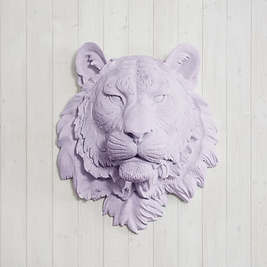 Wall Charmers Siberian Faux Taxidermy Tiger Head Wall D cor; Lavender