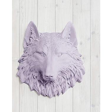 Wall Charmers Sierra Faux Taxidermy Mini Wolf Head Wall D cor; Lavender