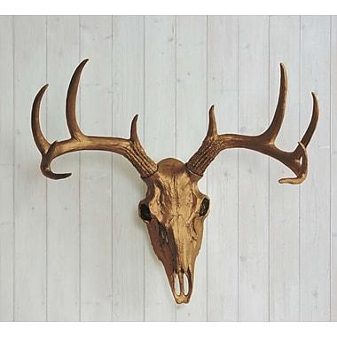 Wall Charmers Faux Taxidermy Deer Head Skull Wall D cor; Bronze