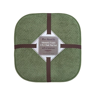 Bounce Comfort Bon Appetite Dining Chair Cushion (Set of 2); Fern Green