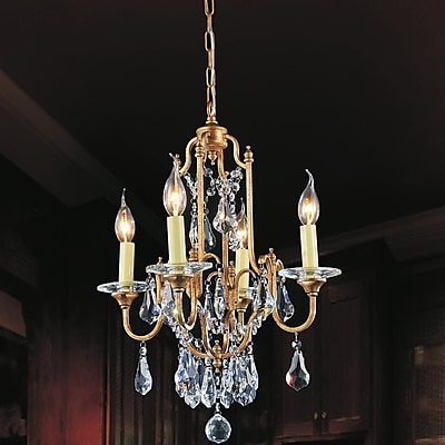 CrystalWorld Electra 4-Light Candle-Style Chandelier
