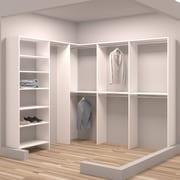 TidySquares Inc, Demure Design 84.25''W - 93''W Closet System