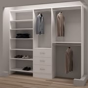 TidySquares Inc, Demure Design 93''W Closet System