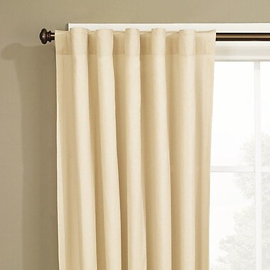 Sure Fit Cotton Duck Window Single Curtain Panel; Natural