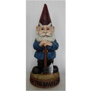 Hi-Line Gift Ltd. Gnome w/ Axe - No Trespassing Statue