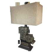 ImmacuLamps State 28'' Table Lamp; Black Gold