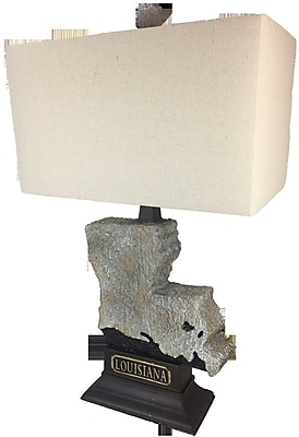 ImmacuLamps State 28'' Table Lamp; Natural Stone