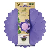 Kitchen Innovations Zeal Reflecting Nature 11'' Push and Seal Flower Lid; Purple