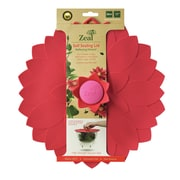 Kitchen Innovations Zeal Reflecting Nature 11'' Push and Seal Flower Lid; Red