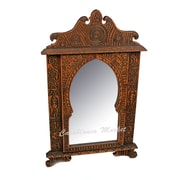 Casablanca Market Carved Wood Crowned Wall Mirror