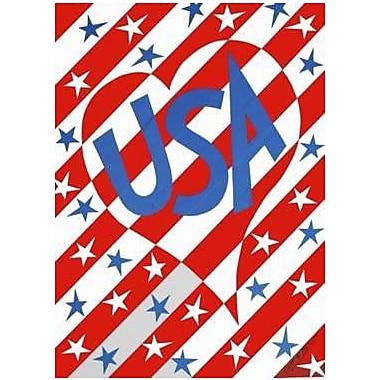 The Cranford Group USA Heart Garden Flag
