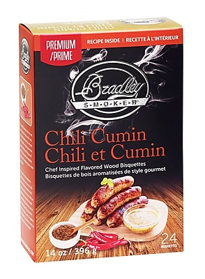 Bradley Smoker Premium Chili Cumin Bisquettes (Set of 24)