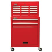 Homak 24'' Wide 6 Drawer Combination Set; Red