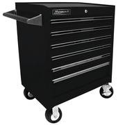 Homak Professional 27'' Wide 6 Drawer Bottom Rollaway Chest; Black