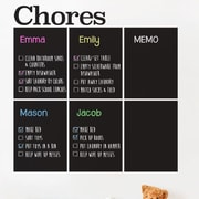 SimpleShapes Chores Chart Chalkboard Wall Decal