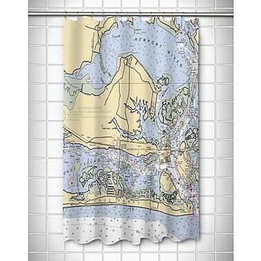 Longshore Tides Ellisburg Morehead City, NC Shower Curtain