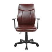 United Chair Industries LLC Modern Ergonomic Mid-Back Desk Chair; Brown