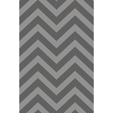 Diagona Designs Anne Chevron Gray Area Rug; Runner 2'7'' x 9'10''