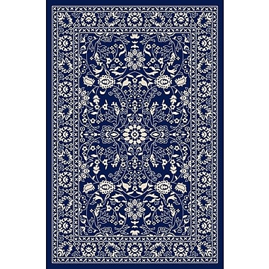Diagona Designs Anne Oriental Mahal Blue Area Rug; Runner 1'8'' x 4'11''