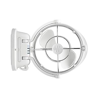Sirocco II 7010CAWBX 12/24 volt Gimbal Fan 3 Speed, White