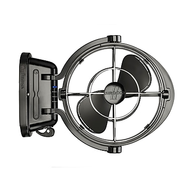 Sirocco II 7010CABBX 12/24 volt Gimbal Fan 3 Speed, Black