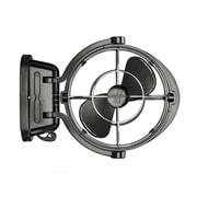 Sirocco II 7010CABBX 12/24 volt Gimbal Fan 3 Speed, Black