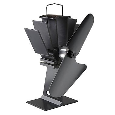 Ecofan – Ventilateur pour poêle à bois alimenté par la chaleur Original 800CAXBX, noir